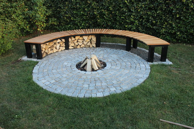 Instructables - firepit and bench