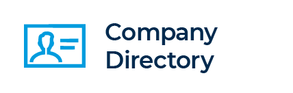 Company Directory. Clicking takes you to company directory page.